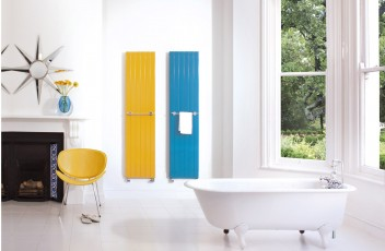 Bisque Decorative panel - Sun Yellow & Steel Blue
