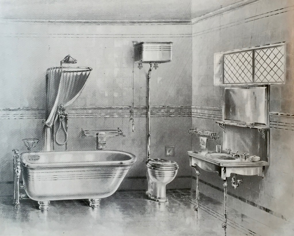 "The Modern Bathroom circa 1899 - ""Gold Line"" Design from Shanks & Co Ltd"