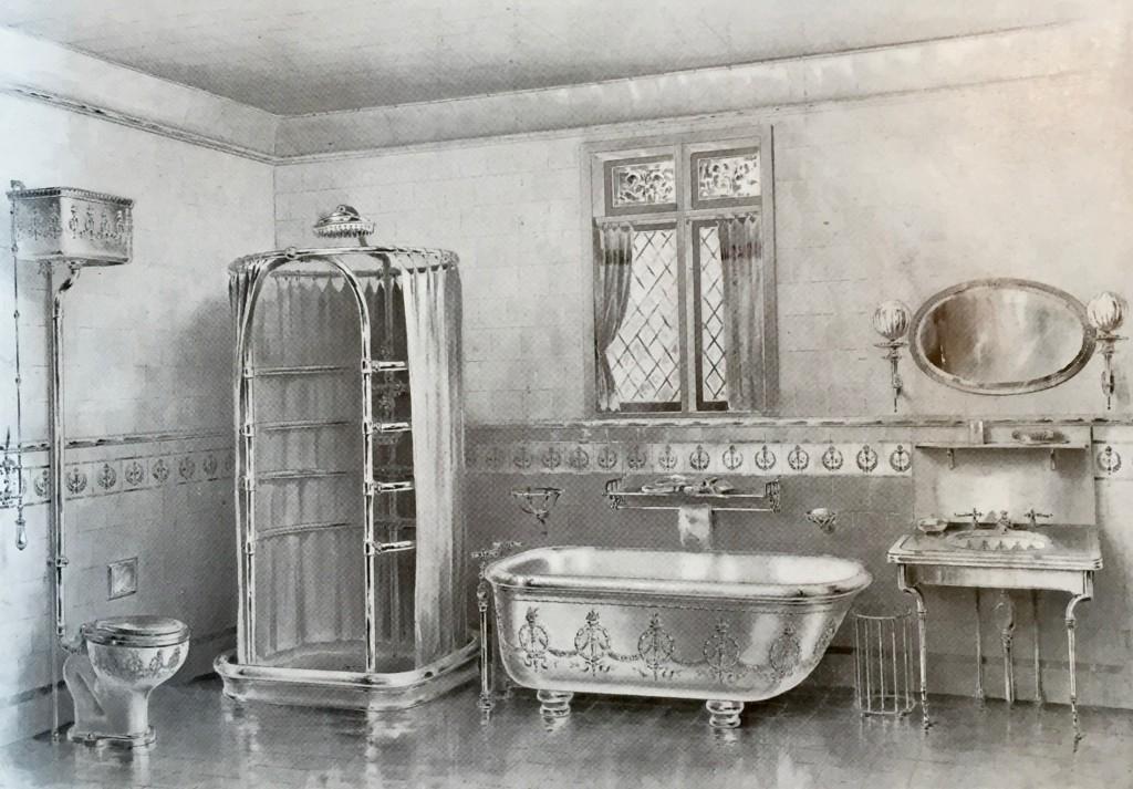 "The Modern Bathroom circa 1899 - ""Empire"" Design from Shanks & Co Ltd"