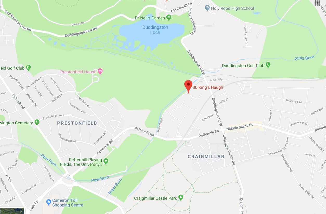 Prestonfield Map