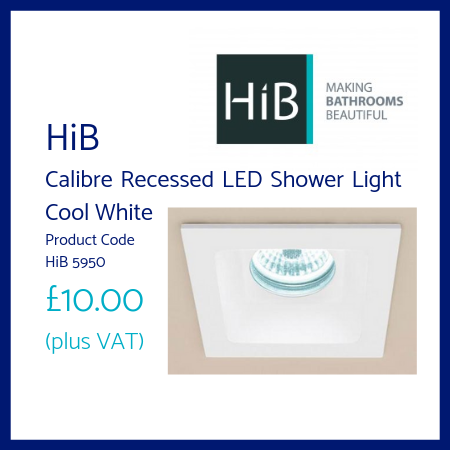 HiB Calibre Recessed LED Shower Light