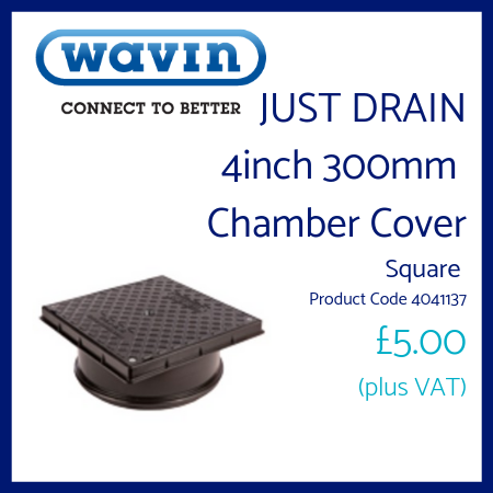 Just Drain 4 inch 300mm Chamber Cover