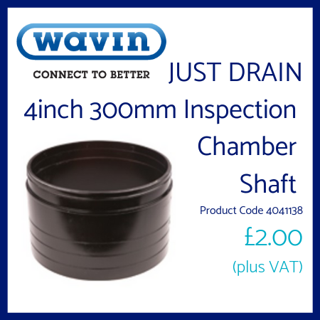 Just Drain 4 inch 300mm Inspection Chamber Shaft