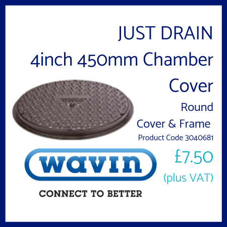Just Drain 4 inch 450mm Chamber Cover