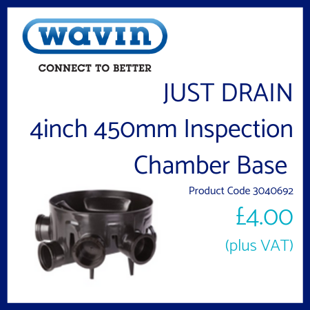 Just Drain 4 inch 450mm Inspection Chamber Base