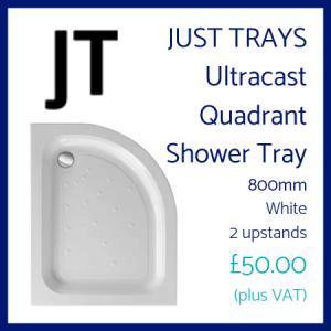 Just Trays Ultracast Quadrant Shower Tray