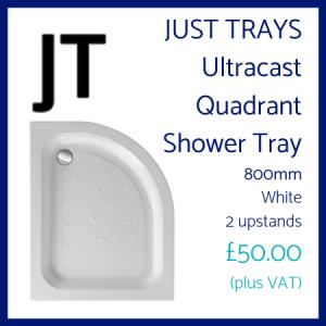 Just Trays Ultracast Quadrant Shower Tray 800mm