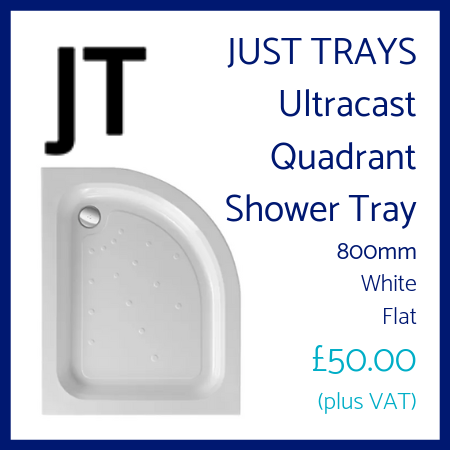 Just Trays Ultracast Quadrant Shower Tray 800mm Flat