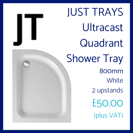 Just Trays Ultracast Quadrant Shower Tray 800mm