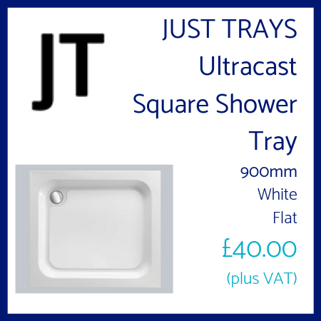 Just Trays Ultracast Square Shower Tray 900mm