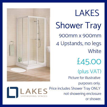Lakes Shower Tray 900mm x 900mm