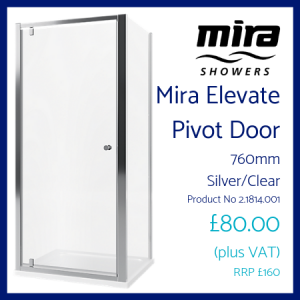 Mira Elevate Pivot Door 760mm
