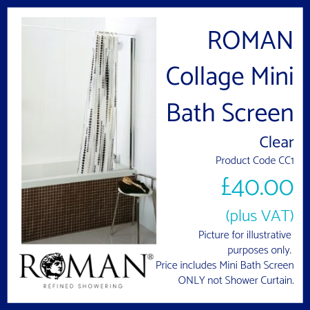 ROMAN Collage Mini Bath Screen