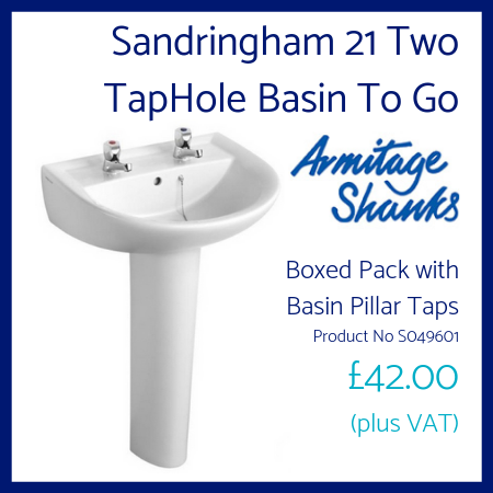 Sandringham 21 Two TapHole Basin To Go