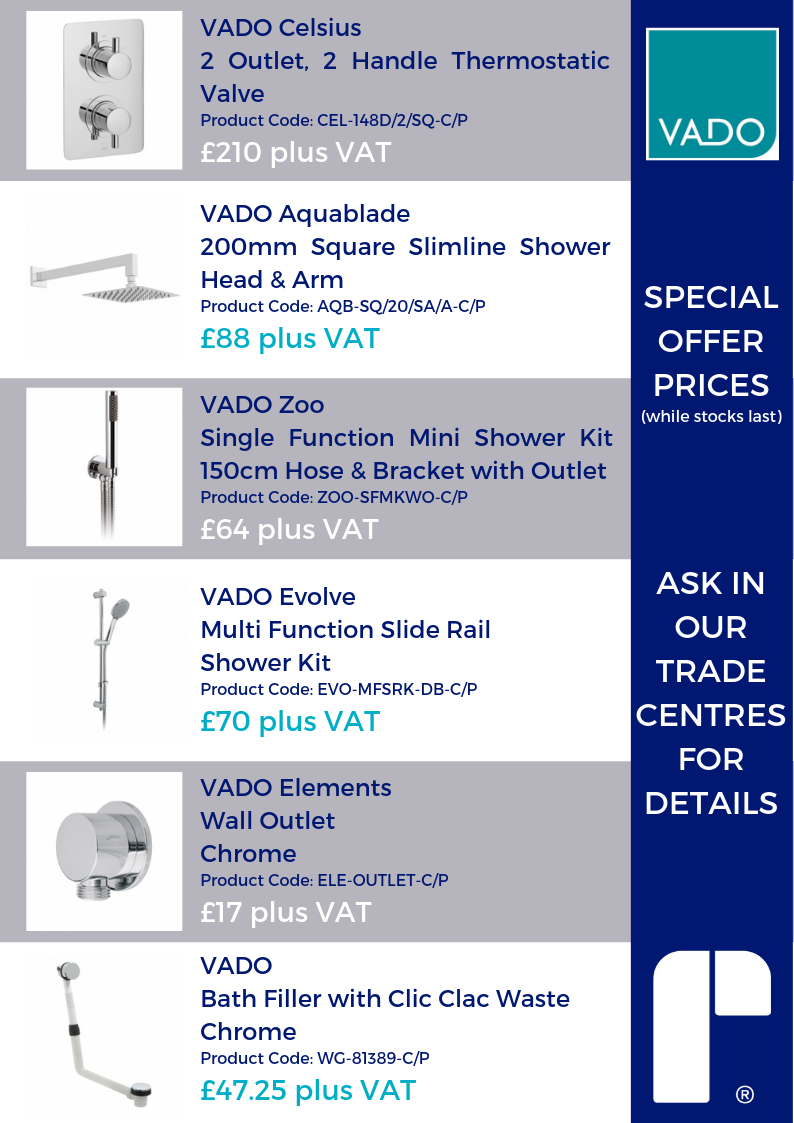 VADO SPECIAL OFFERS JULY 2019