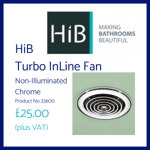 HiB Turbo InLine Fan Non-illuminated