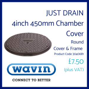 Just Drain Chamber Cover Round