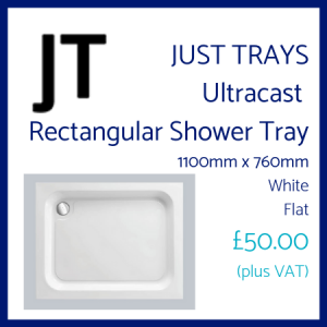 Just Trays Rectangular Shower Tray 1100 x 760